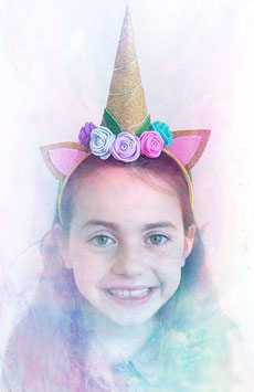 Unicorn headband Golden (glitter)