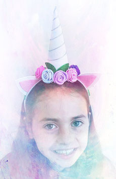 Unicorn headband White (glitter)