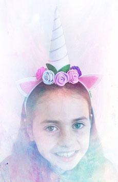 Unicorn headband White (glitter)