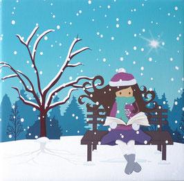 Zoé con su cuento de invierno