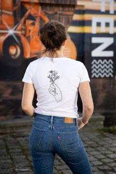 T-shirt weiß Motiv hinten