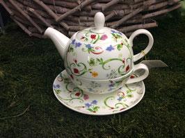 Designer Porzellan-Set Tea for One Dekore Toskana