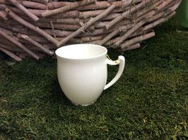 Designer Porzellan-Mega-Tasse Dekore pure weiß