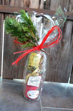Weihnachts-Geschenk Tee & Weckglas-Kerze
