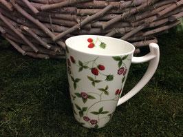 Designer Porzellan-Mega-Becher Dekore Erdbeere