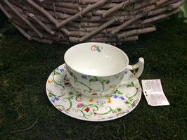 Designer Porzellan-Jumbo-Tasse mit Unterteller Dekore Toskana