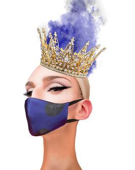 Fashion Mask Fichas Morada Oscura
