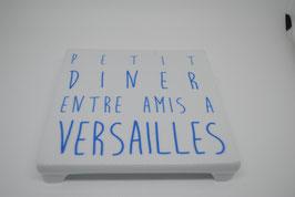 """Dessous de Plat """"Petit Diner entre amis à Versailles"""" Bleu"""
