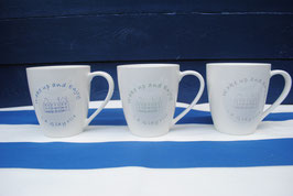 "Lot de 6 Mug ""Wake up & Enjoy"""