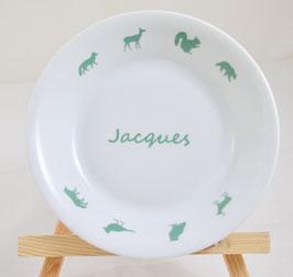 """Assiette Creuse """"Promenons-nous dans les bois"""""""