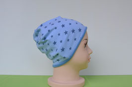 Beanie short Sterne-blau/blau KU 49/51