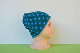Beanie short Sterne/blau KU 49/51
