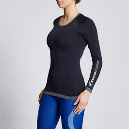 WOMEN'S LONG SLEEVE COMPRESSION TOP (BLACK)