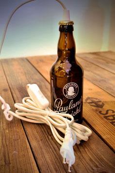 kleine Pendelleuchte aus Bierflasche mit Stecker & Schalter