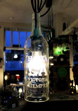 Pendelleuchte Rum-Flasche