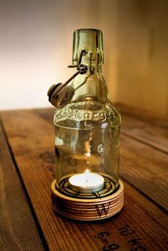 """Windlicht """"Nordlicht"""" aus Bierflasche"""