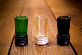 Schnapsglas aus Weinflaschenhals mit Deckel