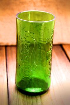Trinkglas aus dänischer Bierflasche