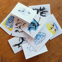 Set dubbele zwaluwkaarten