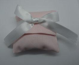 Bustina tessuto rigatino color cipria