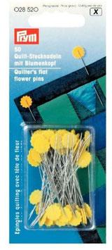 Prym 028520, Quilt-Stecknadeln mit Blumenkopf, Metall, 50 mm, 50 Stück