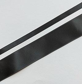 Satinband Luxe, 100% Polyester, mehrere Breiten, anthrazit 98, 1 Meter