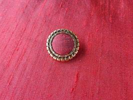 Stoffknopf, Antik, geriffelt, Altgold, 30 mm