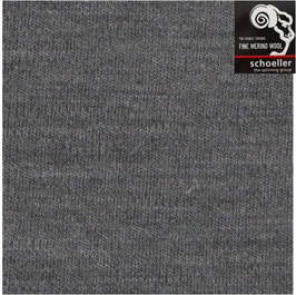 Merino Woll-Interlock Jersey, super soft, 18,5 Micron, Superwash, anthrazit, meliert