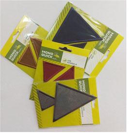 Sparpack, Dreieck Patches zum Aufbügeln, 2-er Set, vier Farben, zwei Größen/Packung