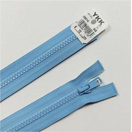 YKK Kunststoff Reißverschluss, teilbar, 1 Stück, ab Länge 55 cm, hellblau 546