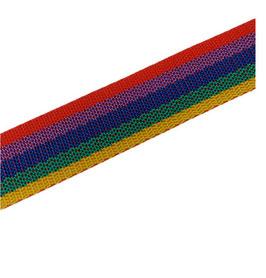 Hochwertiges Gurtband, starker Zug, Regenbogen, 30 mm breit, 1 Meter