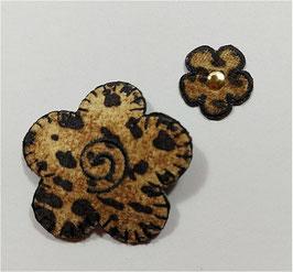 Designer Sticker in Tiger Look, schwarz-braun, 2,5 und 5 cm, 2-er Set