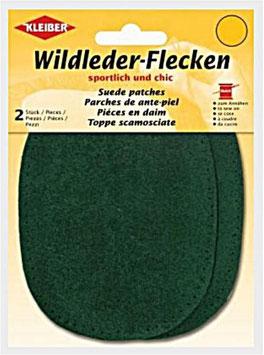 Wildleder-Ellenbogen Patches, 2-er Set, flaschengrün