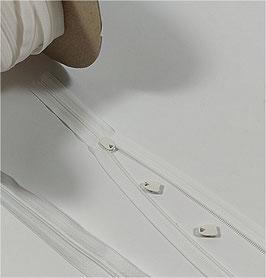 YKK Reißverschluss für Kissen, Bettwäsche Schieber, 40cm, 50cm, 60cm oder 80 cm, weiß