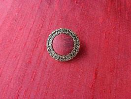 Stoffknopf, Antik, filigran, Altgold, 30 mm