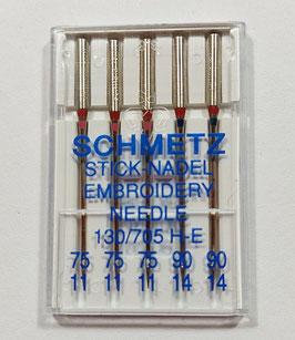 Angebot - Nähmaschinen Sticknadel, Schmetz, 130/705 H, sortiert, 5-er Pack
