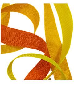 Hochwertiges Gurtband, starker Zug, gelb-orange Töne, 30 mm, 1 Meter