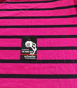 Angebot, Merino Woll-Jersey, Ringel, cyklam-schwarz, 250, Superwash, 50 cm