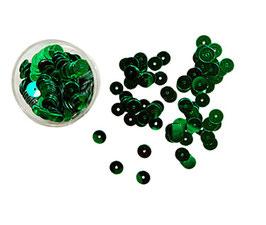 Letzte Döschen, klassische Pailletten zum Annähen, grün, 5 mm