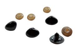 Bärennase, Tiernase, mit Sicherheitsverschluss, schwarz, 20 x 15 mm, 5 Stück