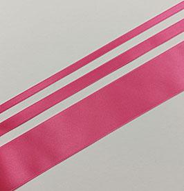 Satinband Luxe, 100% Polyester, mehrere Breiten, pink 62, 1 Meter