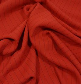 Reduziert, Nadelstreifen, Wollsatin, rot-marine, 50 cm