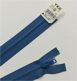 YKK Kunststoff Reißverschluss, teilbar, 1 Stück, ab Länge 45 cm, mittelblau 839