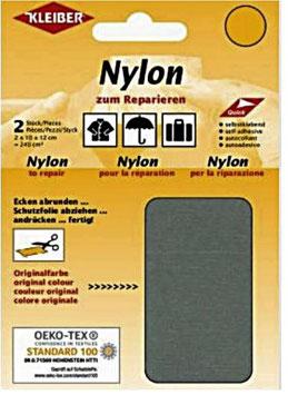 Nylon selbstklebend für Schnellreparatur, Farbe grau-klassisch