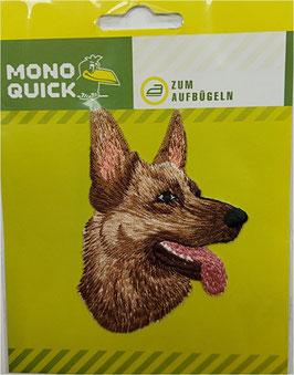 Sticker, Patches, Schäferhund-Kopf, 6 x 8,5 cm, 1 Stück