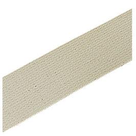 Reststück 2,20 m, hochwertiges Gurtband, Baumwolle, naturweiß, 40 mm