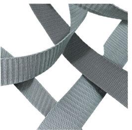 Hochwertiges Gurtband, starker Zug, graue Töne, 30 mm, 1 Meter