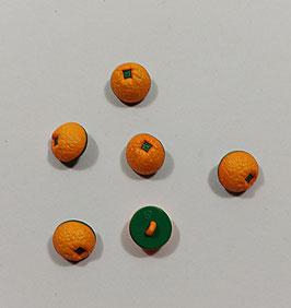 Kinderknopf, Orangen,  15 mm, 2 Stück