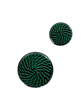 1 Stück, Posamenten Designer Ösenknopf, Farbe grün, 17 mm, 30 mm