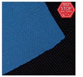 Funktioneller Feinstrick mit Silberionen und Baumwolle, schwarz-blau